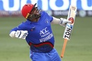 Mohammad Shahzad celebrates scoring a century, Afghanistan v India, Asia Cup 2018, Dubai, September 25, 2018