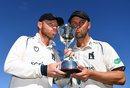 Ian Bell and Jonathan Trott with the Division Two trophy, Warwickshire v Kent, Specsavers Championship, Division One, Edgbaston, September 26, 2018