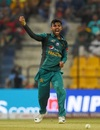 Shadab Khan celebrates after taking a wicket, Bangladesh v Pakistan, Asia Cup 2018, Abu Dhabi, September 26, 2018
