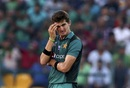 Shaheen Afridi reacts after a shot is played off his bowling, Bangladesh v Pakistan, Asia Cup 2018, Abu Dhabi, September 26, 2018