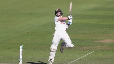 Ollie Pope cuts during his century