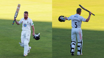 Paul Collingwood leaves the arena after his last innings