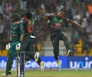 Rubel Hossain rejoices after taking Shoaib Malik's wicket, Bangladesh v Pakistan, Asia Cup 2018, Abu Dhabi, September 26, 2018