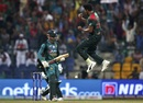 Soumya Sarkar leaps in the air to celebrate the dismissal of Shadab Khan, Bangladesh v Pakistan, Asia Cup 2018, Abu Dhabi, September 26, 2018