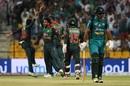 Mehidy Hasan celebrates Fakhar Zaman's wicket, Bangladesh v Pakistan, Asia Cup 2018, Abu Dhabi, September 26, 2018