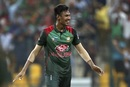 Mustafizur Rahman celebrates a wicket, Bangladesh v Pakistan, Asia Cup 2018, Abu Dhabi, September 26, 2018