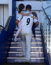 Jonathan Trott walks up the pavilion steps with his children, Warwickshire v Kent, Specsavers Championship, Division One, Edgbaston, September 26, 2018