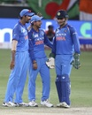 Jasprit Bumrah, Kuldeep Yadav and MS Dhoni are all smiles, Bangladesh v India, Asia Cup final, Dubai, September 28, 2018