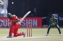 Hamilton Masakadza attempts a lap shot, South Africa v Zimbabwe, 1st ODI, Diamond Oval, September 30, 2018
