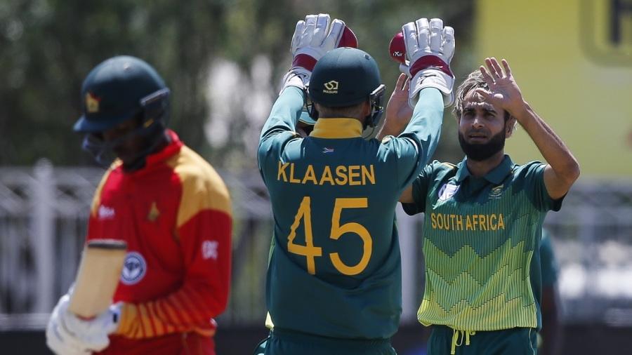 South Africa's Imran Tahir takes hat-trick against Zimbabwe