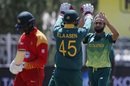 Imran Tahir celebrates a wicket, South Africa v Zimbabwe, 1st ODI, Diamond Oval, September 30, 2018