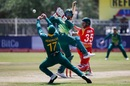 Reeza Hendricks drops Kyle Jarvis at first slip, South Africa v Zimbabwe, 1st ODI, Diamond Oval, September 30, 2018