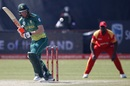 Heinrich Klaasen works one on the leg side, South Africa v Zimbabwe, 1st ODI, Diamond Oval, September 30, 2018