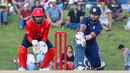 Sunny Sohal connects with a reverse sweep for four, USA v Canada, ICC World Twenty20 Americas Sub Regional Qualifier A, Morrisville, September 22, 2018
