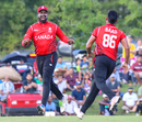 Srimantha Wijeyeratne celebrates after a Canada wicket, USA v Canada, ICC World Twenty20 Americas Sub Regional Qualifier A, Morrisville, September 22, 2018