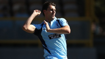 Pat Cummins bowls for NSW Blues