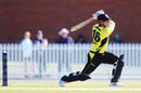 Marcus Stoinis goes for a big drive, Victoria v Western Australia, JLT One-Day Cup 2018, Melbourne, September 26, 2018