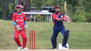 Soyab Chohan drives over the off side, Belize v Panama, ICC World Twenty20 Americas Sub Regional Qualifier A, Morrisville, September 25, 2018