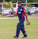 Soyab Chohan walks off after an unbeaten half-century, Belize v Panama, ICC World Twenty20 Americas Sub Regional Qualifier A, Morrisville, September 25, 2018