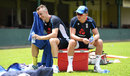 Tom and Sam Curran take a break during training, Colombo, October 3, 2018