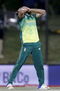 Imran Tahir is overjoyed after becoming the fourth South African to take an ODI hat-trick, South Africa v Zimbabwe, 2nd ODI, Bloemfontein, October 3, 2018