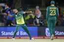 Imran Tahir celebrates after a six-wicket haul, South Africa v Zimbabwe, 2nd ODI, Bloemfontein, October 3, 2018