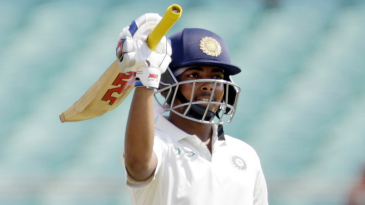 Prithvi Shaw brought up a half-century on debut