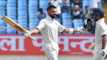 Virat Kohli notched up his 24th Test century