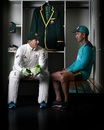 Tim Paine and Justin Langer pose during a portrait session, Dubai, October 5, 2018