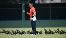 Chris Woakes, surrounded by crows, waits to bowl, Sri Lanka Board XI v England, tour match, P Sara Oval, October 5, 2018
