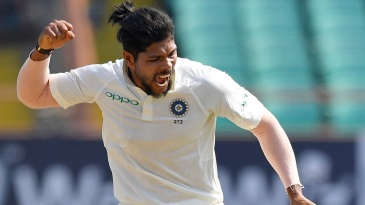 Umesh Yadav is pumped up after dismissing Keemo Paul