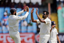 R Ashwin celebrates a wicket, India v West Indies, 1st Test, Rajkot, 3rd day, October 6, 2018