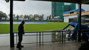 No chance of cricket: England's second warm-up match was washed out