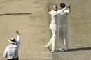 Nathan Lyon celebrates a wicket, Pakistan v Australia, 1st Test, Dubai, 1st day, October 7, 2018
