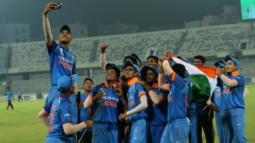The victorious India Under-19s pose for a selfie