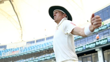 Peter Siddle warms up before the start of play