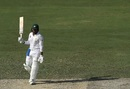 Haris Sohail celebrates his maiden Test hundred, Pakistan v Australia, 1st Test, Dubai, 2nd day, October 8, 2018