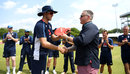 Olly Stone was handed his cap by Darren Gough, Sri Lanka v England, 1st ODI, Dambulla, October 10, 2018