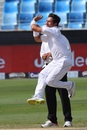 Yasir Shah in his bowling action, Pakistan v Australia, 1st Test, Dubai, 4th day, October 10, 2018