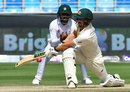 Travis Head plays the sweep, Pakistan v Australia, 1st Test, Dubai, 5th day, October 10, 2018