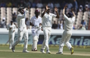 R Ashwin celebrates a wicket, India v West Indies, 2nd Test, Hyderabad, 1st day, October 12, 2018
