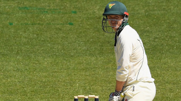Bum note: George Bailey's side-on batting stance