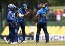 Lasith Malinga celebrates his fifth wicket, Sri Lanka v England, 2nd ODI, Dambulla, October 13, 2018