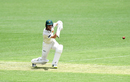 Jordan Silk drives into the covers, Queensland v Tasmania, Sheffield Shield 2018-19, Brisbane, 1st day, October 16, 2018
