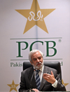 Ehsan Mani addresses a press conference, Lahore, September 4, 2018
