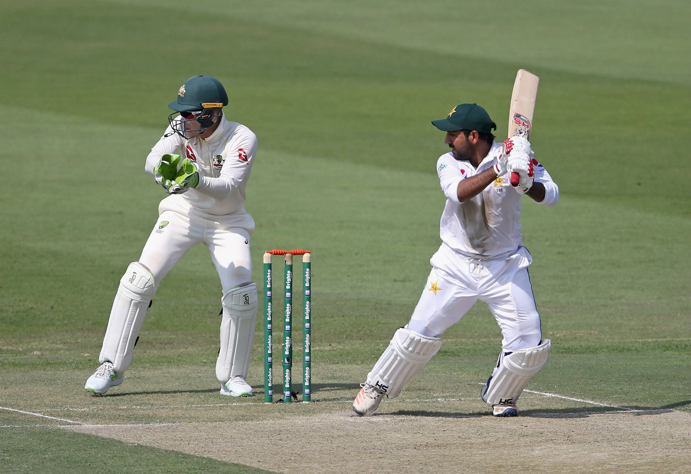 Australia reduced to 20/2 at Stumps on Day 1, in reply to Pakistan's 282 all out