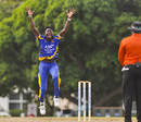 Dominic Drakes goes up in an appeal, Barbados v United States of America, Super50 Cup, Group B, Cave Hill, October 16, 2018