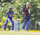Monank Patel goes down the ground, Barbados v United States of America, Super50 Cup, Group B, Cave Hill, October 16, 2018