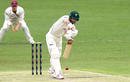 Matthew Wade punches the ball back, Queensland v Tasmania, Sheffield Shield 2018-19, Brisbane, 2nd day, October 17, 2018