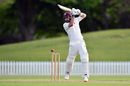 Dean Brownlie punches off the back foot, Canterbury v Northern Districts, Plunket Shield 2018-19, Christchurch, 1st day, October 17, 2018